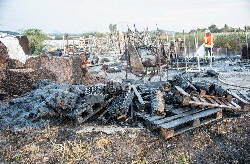 Brand auf Firmengelände