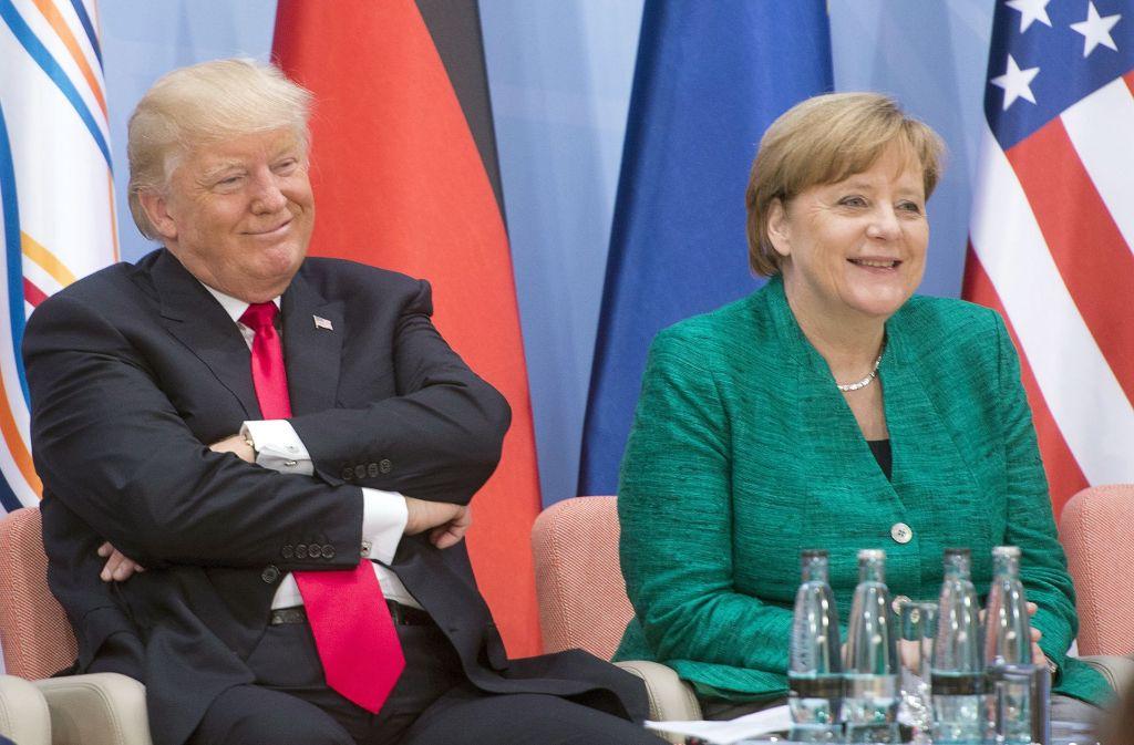 Auch Donald Trump und Angela Merkel sind beim G20-Gipfel in Hamburg aufeinander getroffen. Foto: The Canadian Press