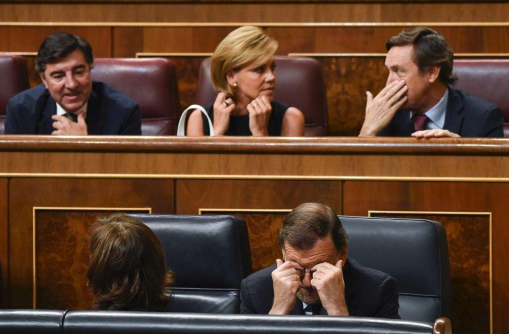 Mariano Rajoy kann's nicht fassen: Wieder nichts mit der Regierungsbildung in Spanien. Foto: AFP