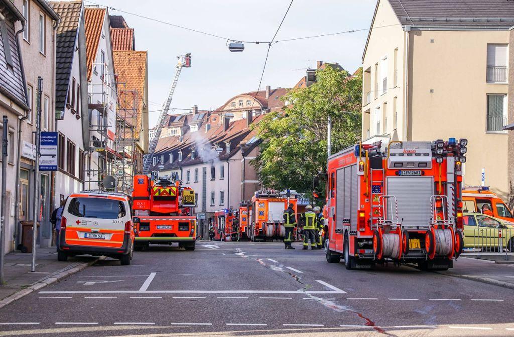 Die Feuerwehr wurde zu einem Einsatz nach Stuttgart-Ost beordert. Foto: 7aktuell.de/Andreas Werner/www.7aktuell.de/Andreas Werner