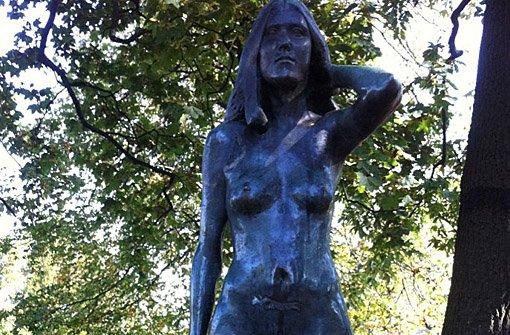 Bronzestatue von Uhlandshöhe geklaut