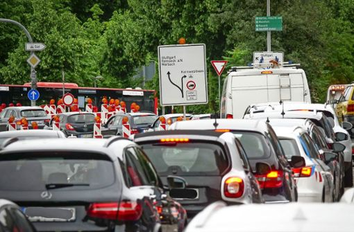 Mega-Baustelle  nervt viele Autofahrer