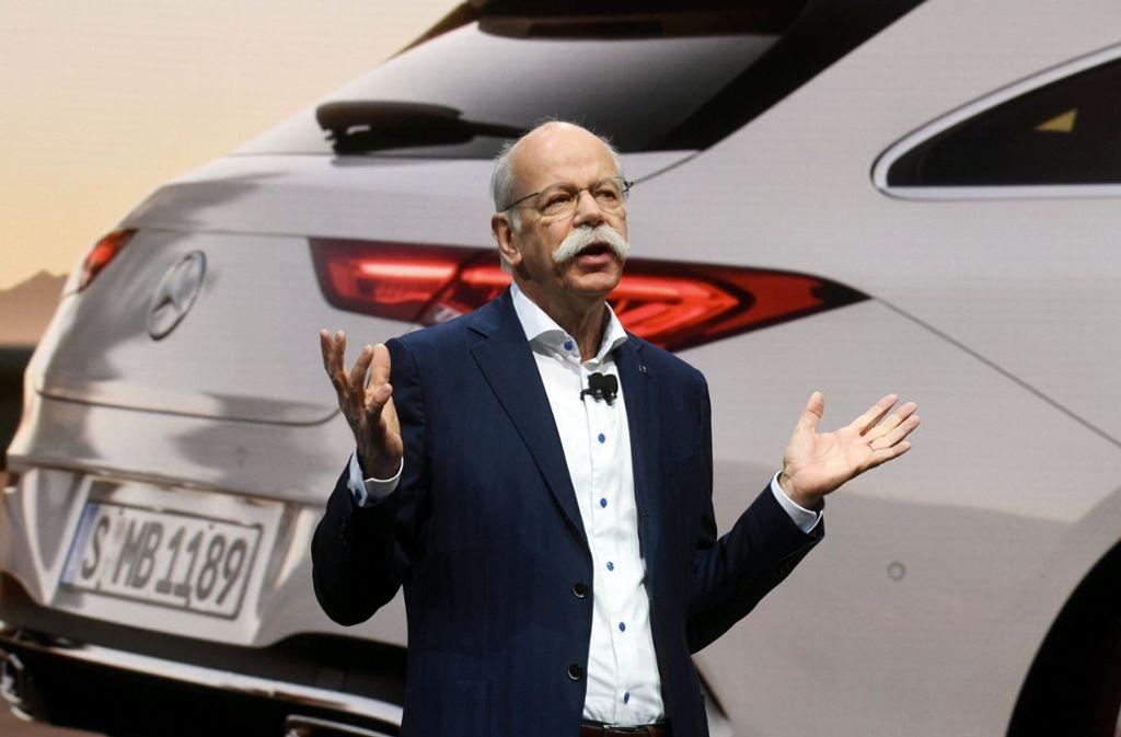 Daimler-Vorstandschef Dieter Zetsche sprach am Dienstag auf dem Genfer Autosalon. Foto: dpa