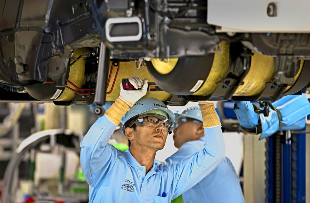 Noch wird das Brennstoffzellenauto Mirai bei Toyota nicht im industriellen Maßstab gefertigt. Das soll sich bald ändern.Foto: BloombergIn Fujisawa Smart Town Foto: Mayer-Kuckuk