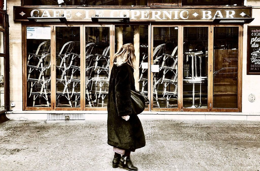 Bis auf weiteres geschlossen: ein Bistro in Paris. Foto: Knut Krohn