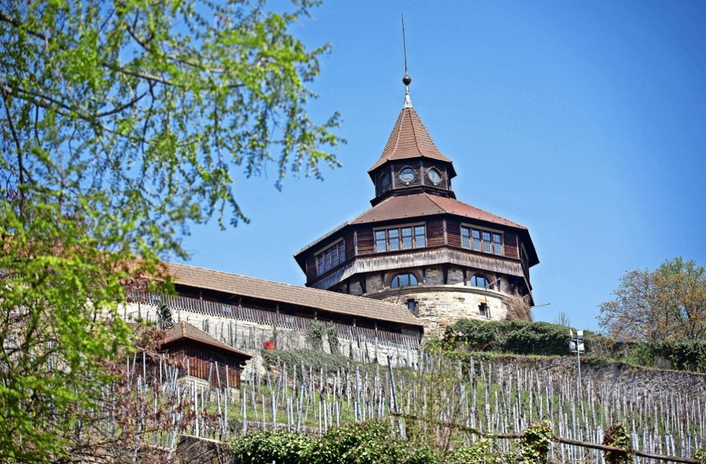Der Dicke Turm auf der Esslinger Burg kann in vier Teilabschnitten saniert werden. Als erstes sollen die Bürger wieder die  Burgstube nutzen können. Foto: Horst Rudel