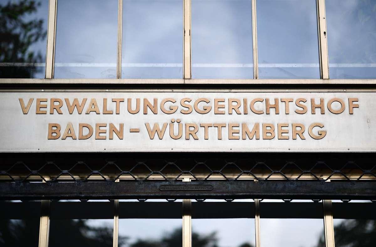 Der Verwaltungsgerichtshof Baden-Württemberg verkündete seine Entscheidung am Dienstag. Foto: dpa/Uwe Anspach