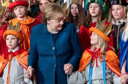 Bundeskanzlerin empfängt Sternsinger im Kanzleramt