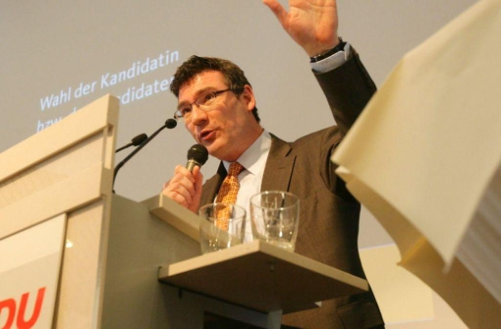 Stefan Kaufmann sagt, es gebe offene Fragen, was das Engagement Turners bei den Netzaktivisten angehe. Foto: Zweygarth