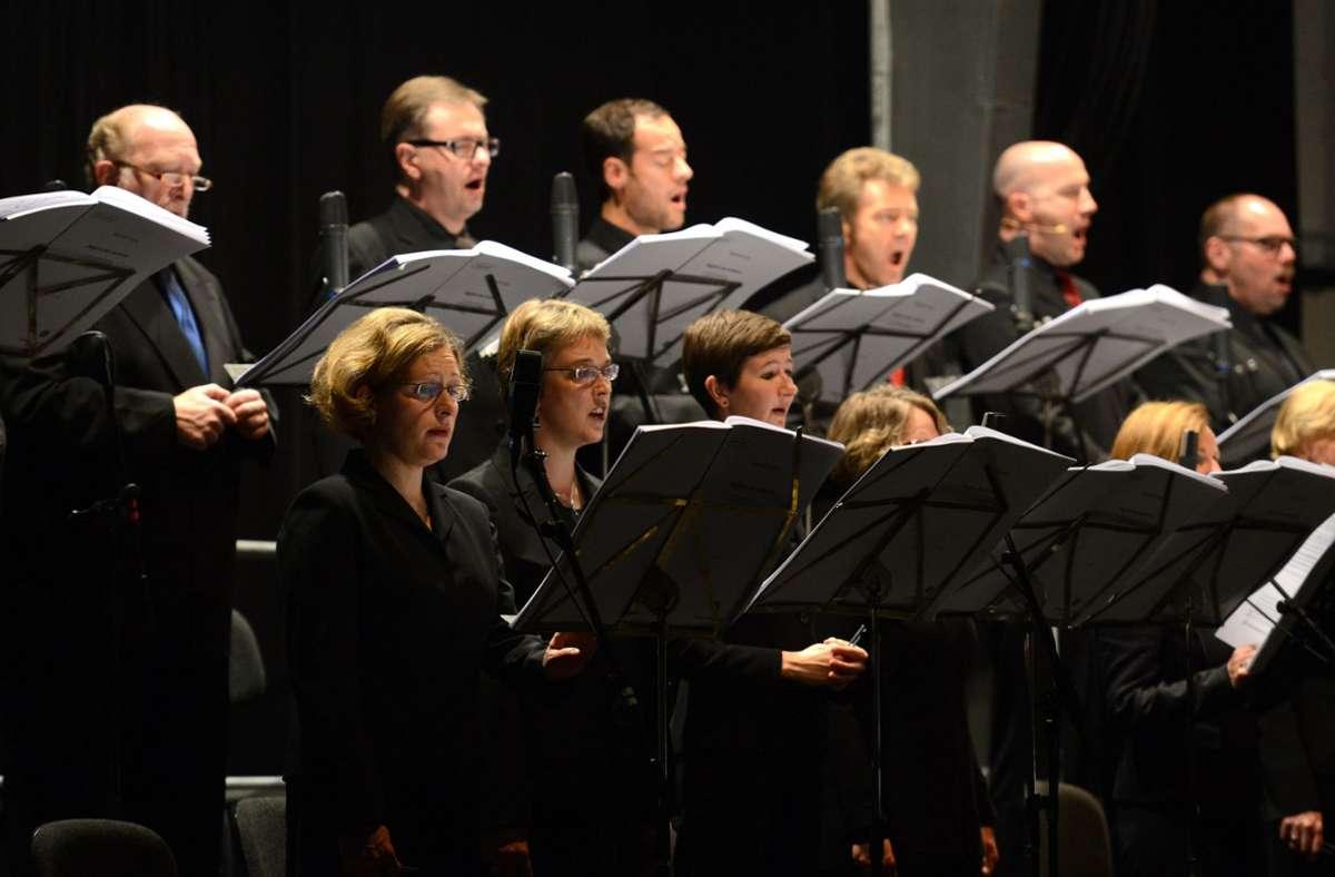Das SWR Vokalensemble Stuttgart bei den Donaueschinger Musiktagen. Foto: dpa/Patrick Seeger