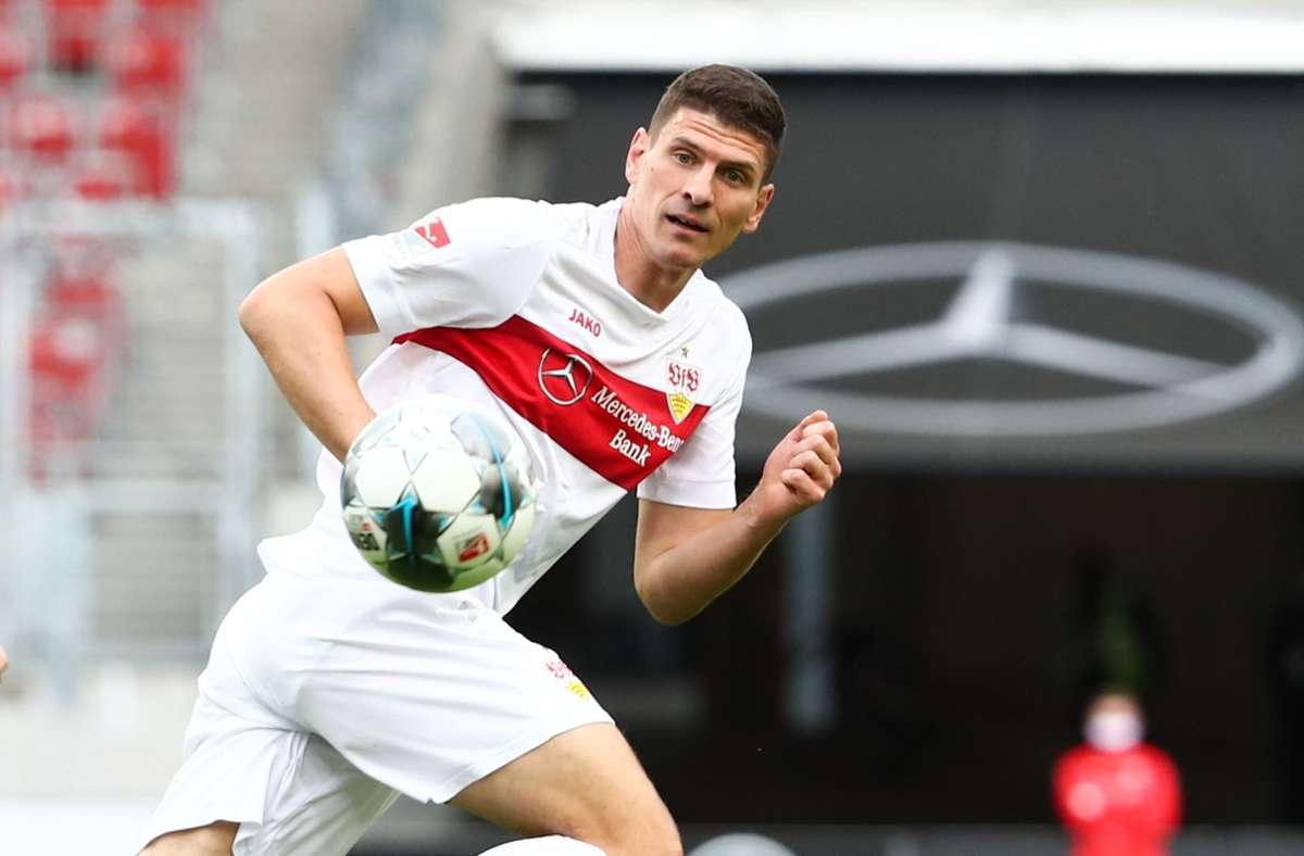 Stuttgarts Mario Gomez noch in Aktion für den VfB Stuttgart – der Torjäger hat seine Karriere beendet. Foto: dpa/Tom Weller