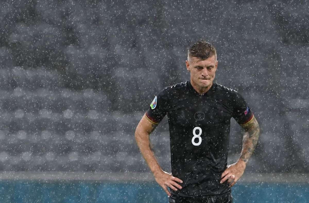 Beendet Toni Kroos seine Karriere in der Nationalmannschaft? Foto: AFP/CHRISTOF STACHE