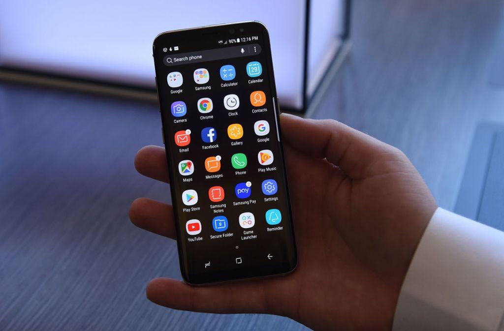 Samsung hat sein erstes 5G-Smartphone für Juni angekündigt. (Symbolfoto) Foto: AFP