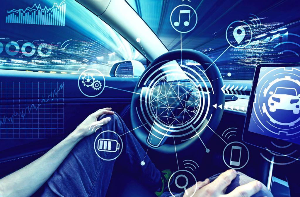 Autonome Autos sind mit Sensoren und Software vollgestopft. Foto: Tierney/Adobe Stock