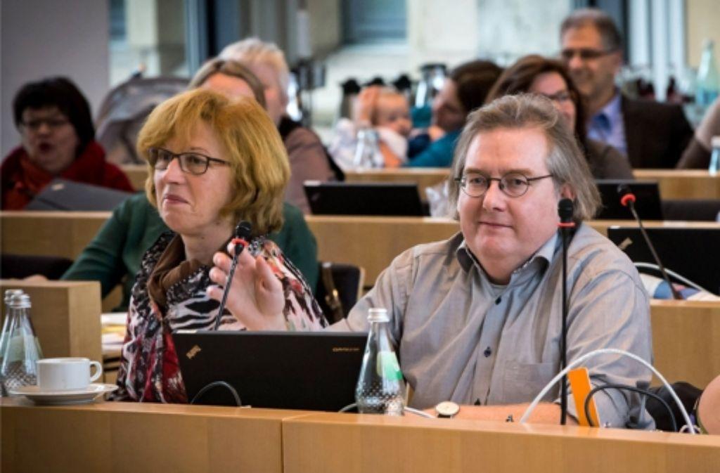 Die Grünen gehen mit Silvia Fischer und Peter Pätzold an der Spitze in den Kommunalwahlkampf. Foto: Achim Zweygarth
