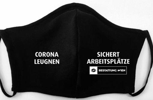 Wiener Bestattung verkauft morbiden Mund-Nasen-Schutz