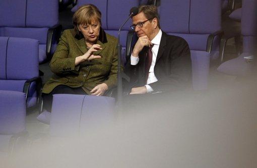 Merkel hält Ansprache für Guido Westerwelle