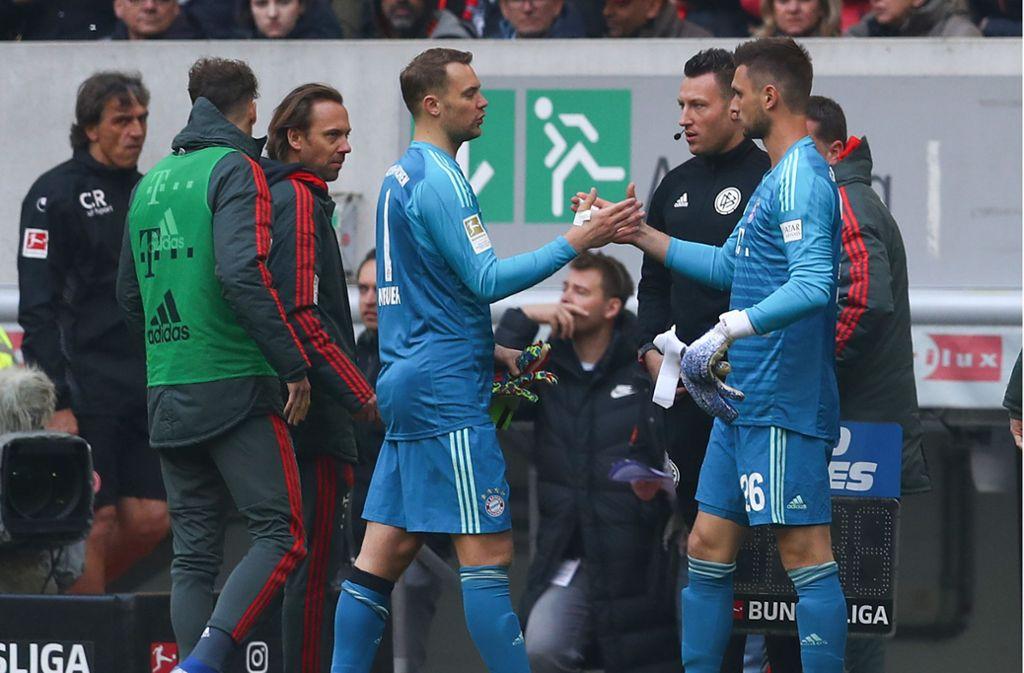 Sven Ulreich (re.) darf bei den Bayern wieder einmal Nationaltorhüter Manuel Neuer vertreten. Foto: Getty