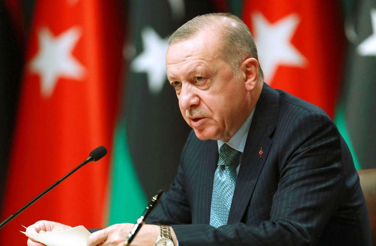 Der türkische Präsident Recep Tayyip Erdogan und Kopf der in Verruf geratenen AK-Partei Foto: AFP/Adem Altan