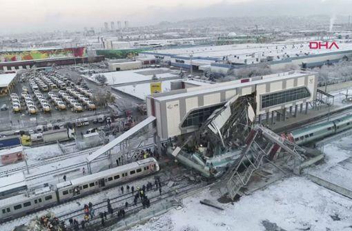 Neun Menschen sterben bei Zugunglück in türkischer Hauptstadt