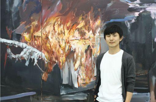 Yongchul Kim im Künstlergespräch in Nürtingen