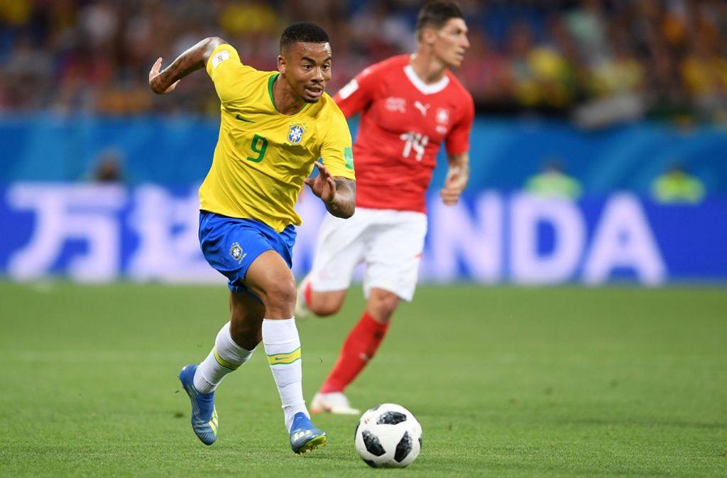 Gabriel Jesus stürmte für Brasilien gegen die Schweiz von Beginn an. Foto: Getty Images Europe