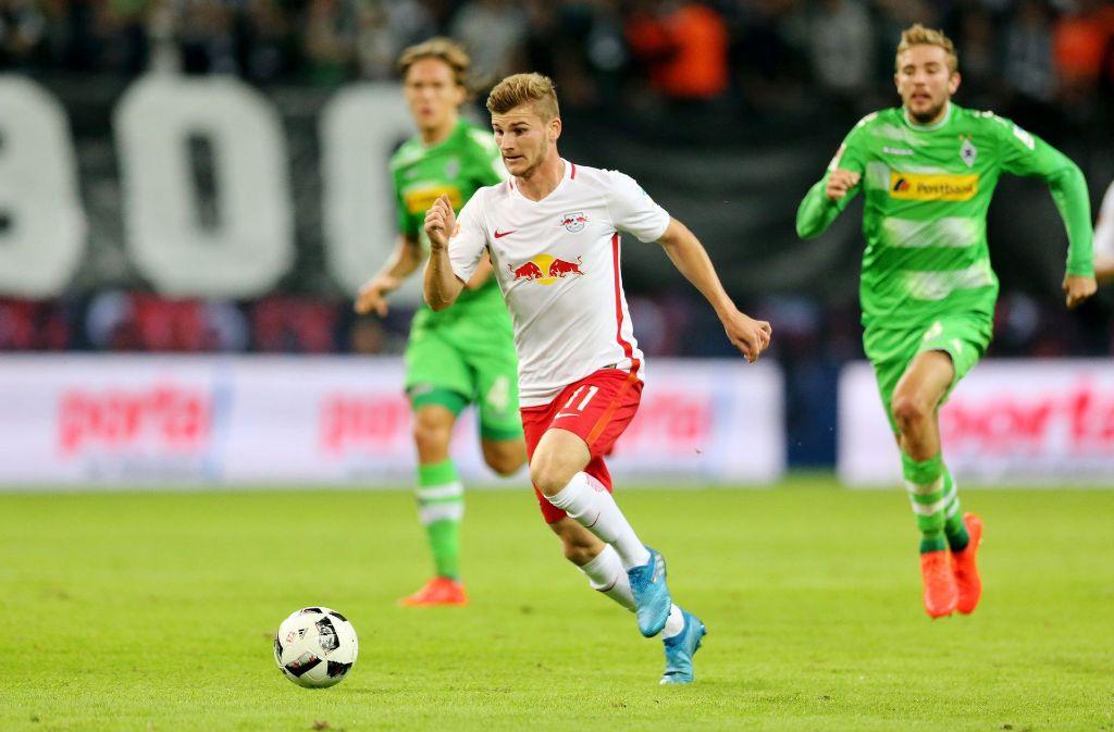 Timo Werner ist wieder fit und wird gegen den VfB am Samstag wohl eingesetzt werden. Foto: dpa