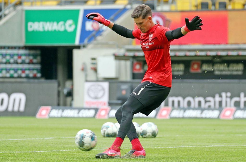 Gregor Kobel – trägt er auch in der kommenden Saison das Trikot des VfB Stuttgart? Foto: Baumann