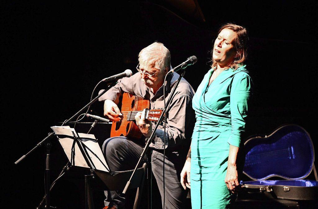 Und jede Note und jeder Sinn sitzt: Pamela und Wolf Biermann Foto: Lichtgut/Jan Reich
