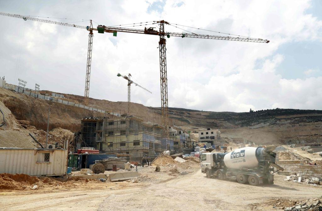 Der Ausbau israelischer Siedlungen nahe oder in palästinensischen Gebieten stößt immer wieder auf Kritik. Foto: AFP