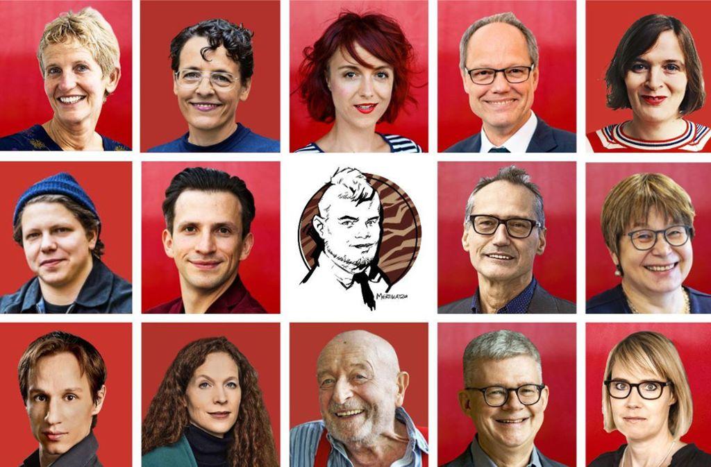 Zehn prominente Gäste und fünf Redaktionsmitglieder ziehen Bilanz des Kulturjahrs. Foto: Clemens Schiesko,  dpa/Christoph Schmidt/Fabian Sommer/Marijan Murat, Frank P. Kistner,  Guhl, Lichtgut (6), StZN (2), Mertikat