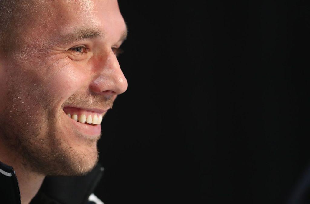 Lukas Podolski kehrt der deutschen Nationalelf den Rücken zu. Jetzt hat er sich öffentlich vor seinem Abschied bei den Fans und bei Deutschland mit einem Brief bedankt. Foto: Getty Images