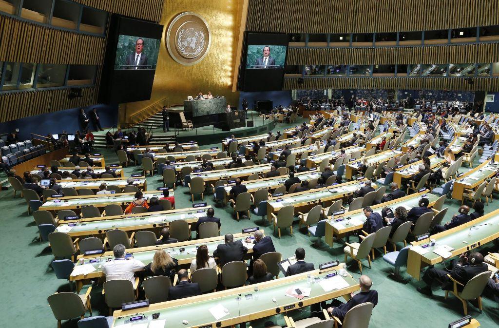 Vollversammlung im New Yorker Hauptquartier der Vereinten Nationen Foto: EPA