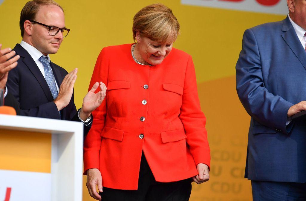 Angela Merkel ist in Heidelberg mit Tomaten beworfen worden. Foto: dpa