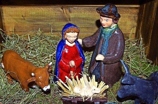 Maria und Josef aus Ton