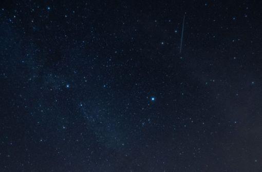 Höhepunkt der Sternschnuppen am Himmel erwartet
