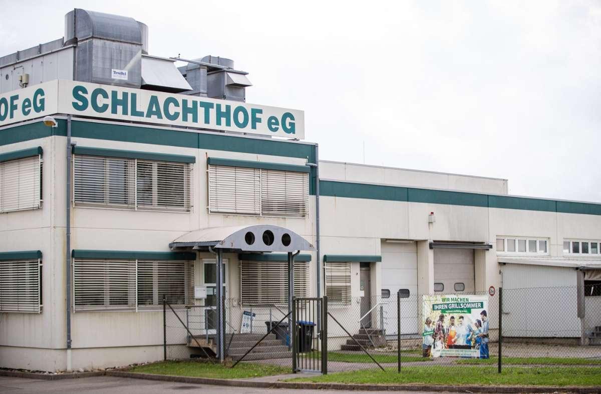 Der Schlachthof in Gärtringen steht nach dem Eklat-Video in der Kritik. Foto: dpa/Christoph Schmidt