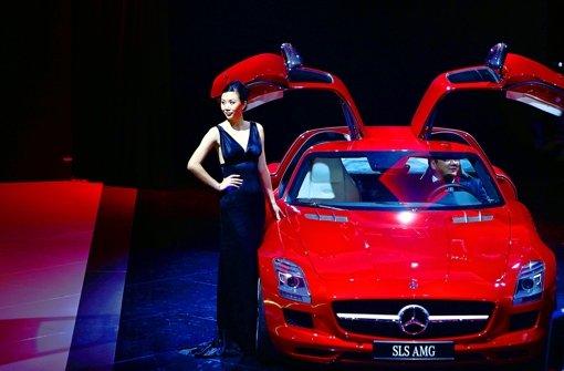 Mercedes-Benz fährt Audi und BMW in China hinterher. Foto: AP
