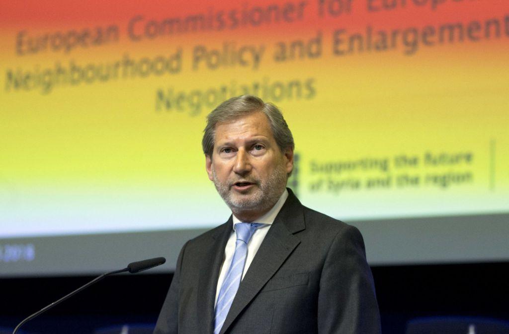 Der Österreicher Johannes Hahn führt im Namen der EU die Beitrittsgespräche.. Foto: AP