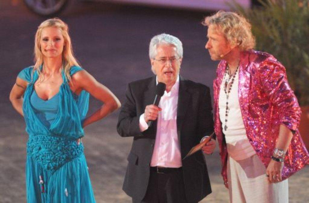 Michelle Hunziker, Frank Elstner und Thomas Gottschalk haben Wetten, dass..? geprägt. Foto: dpa