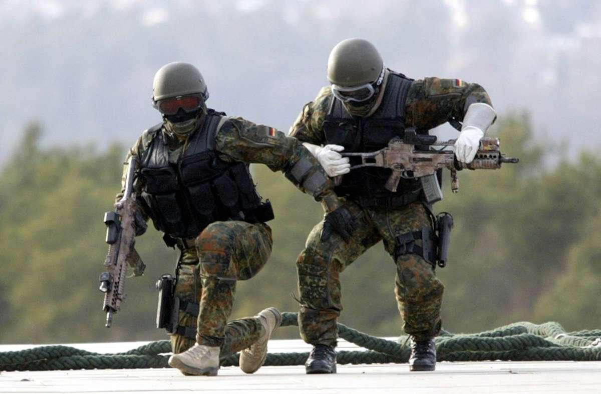 Dem im baden-württembergischen Calw stationierten Kommando Spezialkräfte gehören etwa 1400 Kommandosoldaten und Unterstützungskräfte an. Foto: dpa/A3386 Uli Deck