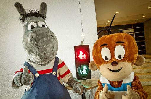 Äffle und Pferdle bekommen ihre Ampel in Stuttgart