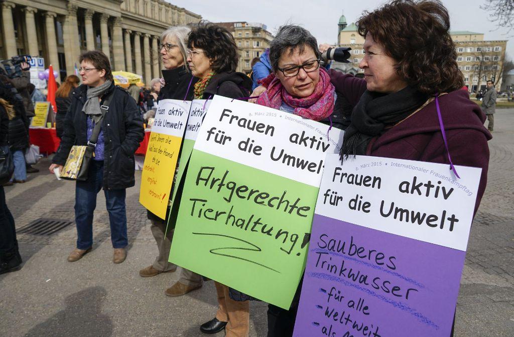 Wie schon in den vergangenen Jahren wird am Mittwoch zwischen 15 und 17 Uhr auf dem Schlossplatz einen Aktionstag zum Internationalen Frauentag geben. Foto: factum/Weise