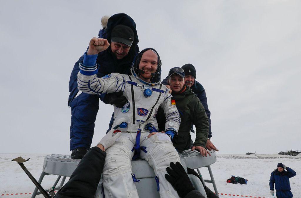 Alexander Gerst ist zurück auf der Erde. Foto: POOL