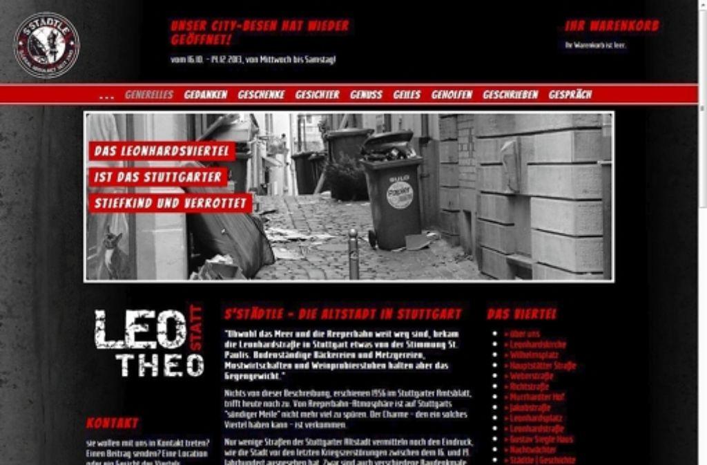 Die Internetseite ist eine Mischung zwischen Anklage an die Politik und Werbung fürs Viertel. Die Macher hoffen auf Mitstreiter. Foto: red