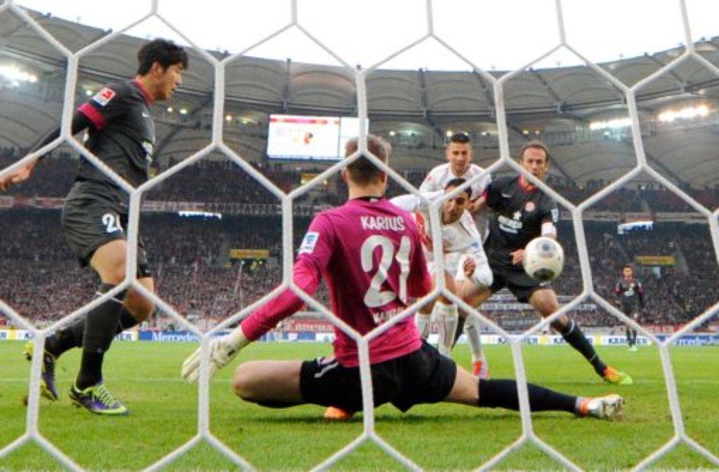 Klicken Sie sich durch die Bilder zum Spiel des VfB Stuttgart gegen den FSV Mainz 05. Foto: dpa