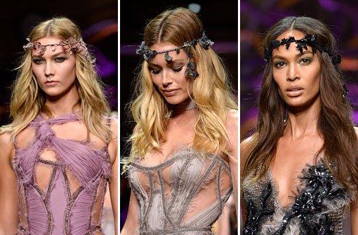 Versace zeigt Topmodels in Pastellfarben