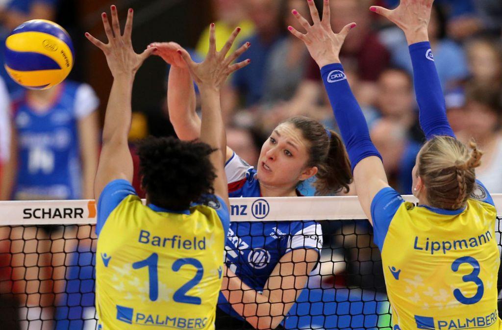 Starke Angreiferin: Michaela Mlejnkova schlägt nächste Saison wieder für Allianz MTV Stuttgart zu. Foto: Baumann