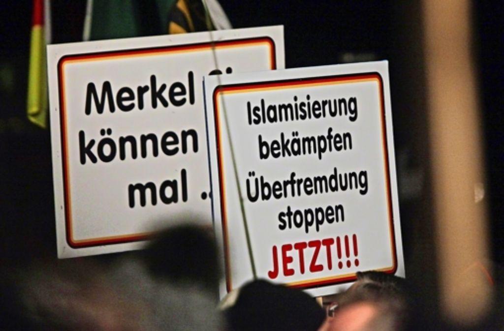 Pegida hat in Dresden seit Wochen wachsenden Zulauf. Foto: dpa
