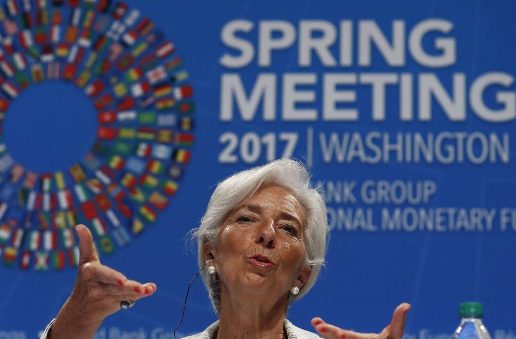 IWF-Chefin Christine Lagarde: Die Französin kritisiert die deutschen Überschüsse schon lange. Foto: AP